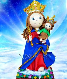FOFUCHAS: FOFUCHA MARIA AUXILIADORA Groups Poster, Lady Mary, Blessed Virgin Mary, Holidays And Events, Prayers, Princess Zelda, Dolls, Biscuit, Christ