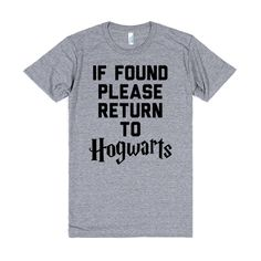 Harry Potter - If Lost Please Return To Hogwarts