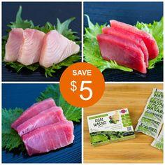 Bigeye, Yellowfin, Albacore Tuna Sashimi Discount Special | Fish-for-Sushi