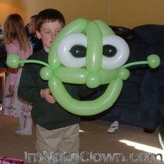 Balloon Shrek Mask...how cool! #balloon costume #costume balloon sculpture #shrek balloon