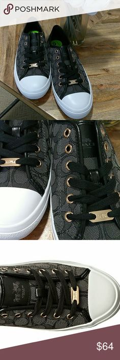 New Coach Sneakers New Coach Sneakers. Gold Detailing. Coach logo on tongue, toe & heel. Coach Shoes Sneakers