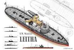 Lajta monitor Model Ship Kits, Model Ships, Model Ship Building, Steam Boats, Royal Australian Navy, Boat Kits, Naval History, Navy Military, United States Navy
