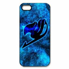 Anime Fairy Tail Logo Blue Background Inspired Hard Plastic Case Cover for iPhone 5-Best Decorative and Protective Bumper Phone Accessories