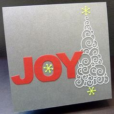 Memory Box Xmas Card/could be a fairly simple style for your work cards if you do them.