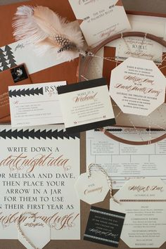 Letterpress Wedding Invitation Suite by Copper Willow   Photography: Diana McGregor   See more on http://www.StyleMePretty.com/little-black-book-blog/2014/01/15/copper-willow-letterpress-wedding-invitations/