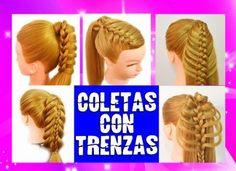 5 Peinados con Coletas con Trenzas FÁCILES
