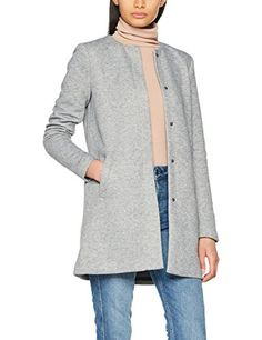 Only Onlsidney Light Coat OTW Noos Manteau Femme Gris (Light Grey Melange) 36 (Taille Fabricant: Small)