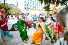 Check out this super duper wedding planned by Krayonz Entertainment! Fashion Couple, First Dance, Wedding Blog, Real Weddings, Wedding Planning, Sari, Indian, Traditional, Orange