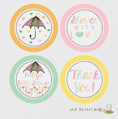 Printable Gifts tags Cupcake Toppers Favor by whatthehootdesigns, $5.00