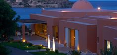 The 5-star Domes of Elounda offers luxurious accommodation with spa bath overlooking the island of Spinalonga and its Venetian castle. #Greece