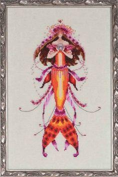 Ophelia Pearls, Counted Cross Stitch, Mirabilia Design, Mermaids, Nora Corbett