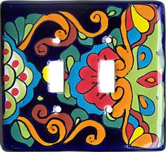 Talavera switchplate. This will look great in my kitchen.