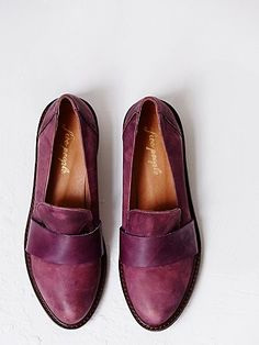 Merit Loafer Slip On | Two-tone Spanish crafted leather slip-on loafers. Padded leather insoles.  *By Free People