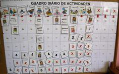 quadros de monitorização da sala no pre escolar - Pesquisa Google Preschool, Calendar, Classroom, Holiday Decor, Home Decor, Crafts, Frames, Ideas, Boas