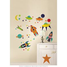 This vintage wall decal set adds retro charm to your decor. Made in the USA. Removable and reusable, you can reposition this wall decal as many times as you like without damaging your walls. Comes on two 17.25 x 39 inch sheets.