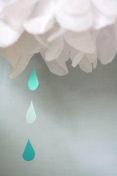 Shower pom poms