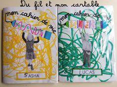 Du fil et mon cartable : Couverture Cahier de Vie (Mettre la pointe du crayon vers la fin de l'écriture)