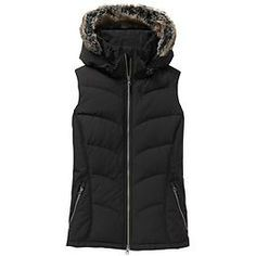 Ridgeview Vest - Layer up for mountain town adventures after you get off the slopes in this goose down vest with a removable hood and faux fur.