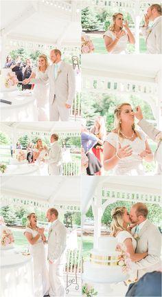 Utah Wedding Photographer- cutting the cake, provo canyon wedding