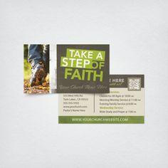 Mini Church Invite Card 3.5x2 - Step of Faith