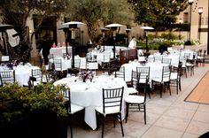 beautiful outdoor wedding reception space