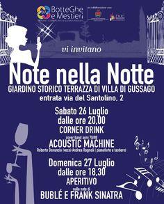 """Sabato 26 e domenica 27 luglio """"Note nella notte"""" - http://www.gussagonews.it/note-nella-notte-luglio-gussago-2014/"""