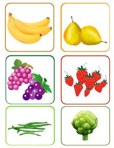 fruits_legumes_1 Math For Kids, Crafts For Kids, My Baby Can Read, Fruit Crafts, Barbie Food, Food Themes, Inspiration For Kids, Craft Work, Healthy Kids