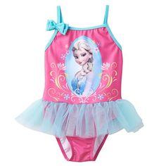 Disney's Frozen Elsa Tutu One-Piece Swimsuit - Toddler Girl