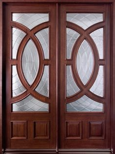 In stock Contemporary Series Mahogany Solid Wood Front Entry Door - Double - DB-985 DD