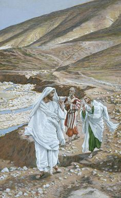 The Calling of St. Andrew and St. John by James Tissot {c.1886-94} ~ Jesus