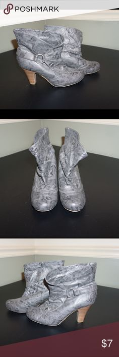 Gray Madden Girl booties sz 7.5 Cute Madden Girl booties sz 7.5 only worn a couple times. Madden Girl Shoes Ankle Boots & Booties