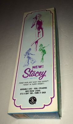 1968 platinum blond long hair right side ponytail with spit curl Twist N Turn Stacey Doll in OSS with TNT waist Mattel 1165 Barbie - in Box Blonde TNT