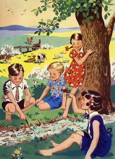 Summer - vintage illustration