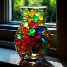 Water marbles! Crazy how a few kitchen ingredients will make these.