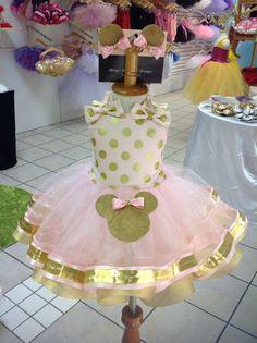 Minnie Mouse tutú de cinta color de rosa y por TheTutuPrincess760