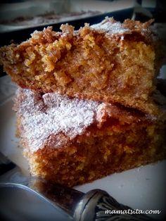 Cookbook Recipes, Dessert Recipes, Cooking Recipes, Desserts, Greek Cake, Brownie Cake, Brownies, Pumpkin Dessert, Greek Recipes