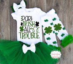 1cc4917d Baby 1st St Patrick's Day Outfit, Saint Patricks Day Outfit St Patricks Day  Baby Girl Outfit, S7