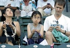 A family of knitters take in a Mariners game! The Seattle Times: Here's a good yarn: Knitting fans keep eye on the ball