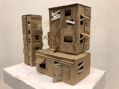 Cardboard Favela Housing Architecture model / sculpture - Secondary Art and Design project