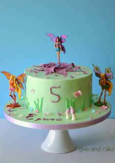 A winx themed cake for a little girl. 90s Party, Ideas Para Fiestas, Themed Cakes, Party Cakes, Amazing Cakes, Cupcake Cakes, Food And Drink, Birthday Cake, Baking