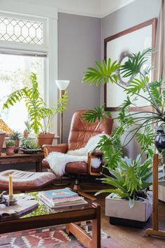 Keep the cool air flowing with this plant filled reading nook. Add a artistic touch with a Minted wall art print.