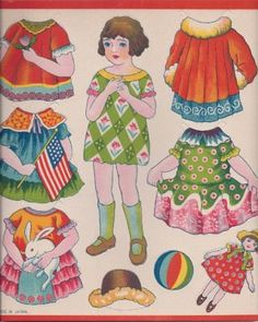 1930s Paper Doll Sheet Made in Japan