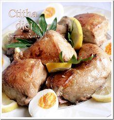 plat algerien:chtitha djeje sauce blanche
