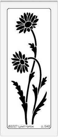 Dreamweaver Large Brass Stencil - Tall Daisies