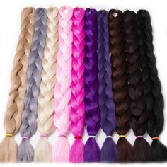 [Visit to Buy] Braiding Hair one piece 82 inch Synthetic High Temperature Fiber 165g VERVES pure color Braid Hair Extensions free shipping #Advertisement