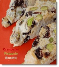 This cranberry pistachio biscotti is a semi-tradtional  Italian biscotti recipe.See this and over 235 Italian dessert recipes with photos.