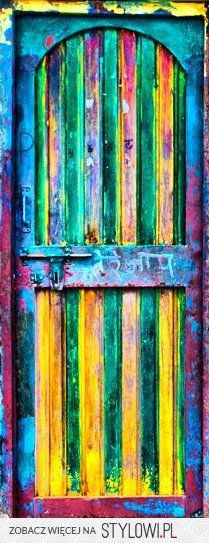 Enter the Colourful World . [detail] by Vineet Sharma: door of an aanganwadi… Cool Doors, Unique Doors, Foto Poster, When One Door Closes, Knobs And Knockers, Door Knobs, Closed Doors, Mellow Yellow, Doorway