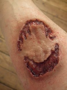 Large juicy zombie bite by SiliconeKitchenFX on Etsy, £13.00