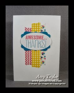Just a Little Ink: Awesome...thanks note-card