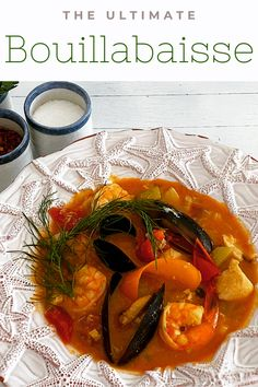 Recipe for an easy, low carb French Bouillabaisse seafood stew. Seafood Bouillabaisse, Bouillabaisse Recipe, Seafood Stew, Fish And Seafood, Salmon Recipes, Fish Recipes, Seafood Recipes, Healthy Recipes, Keto Recipes